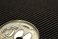 Coin model scene. royalty free stock images