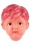 Plastic male doll head Stock Photography
