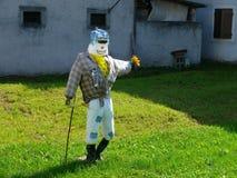 A plastic man. Plastic figure in italian village in Dolomites Stock Images