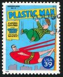 Plastic Man. UNITED STATES - CIRCA 2006: stamp printed by United states, shows Plastic Man, circa 2006 stock photo