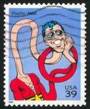 Plastic Man. UNITED STATES - CIRCA 2006: stamp printed by United states, shows Plastic Man, circa 2006 royalty free stock photo