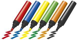 Free Plastic Marker Pens Stock Photos - 5430903