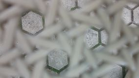 Plastic material netting texture on blur Stock Photo