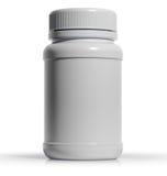 Plastic medische container voor pillen of capsules Royalty-vrije Stock Afbeeldingen
