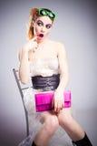Plastic meisje Stock Foto