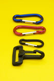 Plastic and metal accessories. Useful for bags, rucksacks and purses stock photos