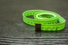 Plastic metrisch meetlint stock afbeelding