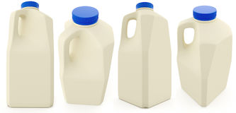 Plastic milk bottle. 3D illustration isolated on a white background Royalty Free Stock Photography