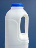 Plastic milk bottle with handle. Stock Image