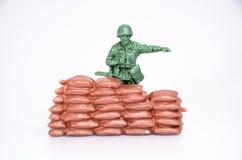 Plastic mini toy soldiers Stock Image