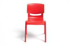 Plastic Miniature Chair Stock Photo
