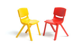 Plastic Miniature Chairs Royalty Free Stock Image
