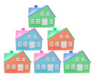 Plastic Miniature Houses Royalty Free Stock Photos