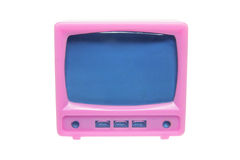Plastic Miniature TV Set Royalty Free Stock Photos