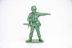 Plastic ministuk speelgoed militairen Royalty-vrije Stock Foto's