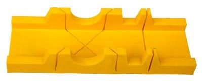 Plastic mitre box on white Stock Images