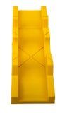 Plastic mitre box on white Stock Photo