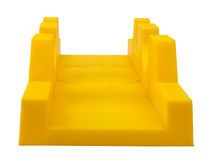 Plastic mitre box on white Royalty Free Stock Images