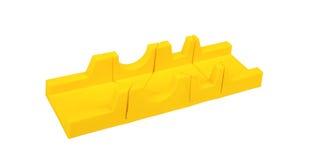 Plastic mitre box on white Stock Photography