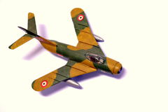Plastic model airplanes Royalty Free Stock Images