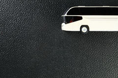 The plastic model of bus represent the model car and vehicle con Royalty Free Stock Photo