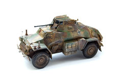 Plastic model of a German armoured car Royalty Free Stock Image
