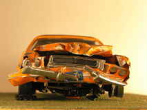 Plastic model of a muscle car Royalty Free Stock Photos