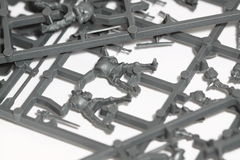 Plastic model parts B royalty free stock images