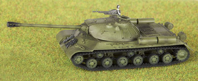 Plastic model of soviet heavy tank Stock Image