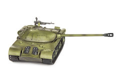 Plastic model of soviet heavy tank isolated on white background Stock Photo