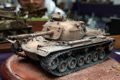 Plastic model tank Royalty Free Stock Images