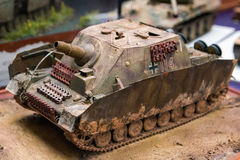 Plastic model tank Stock Photos
