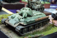 Plastic model tank Royalty Free Stock Photography