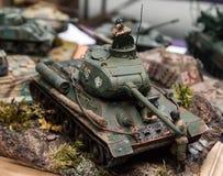 Plastic model tank Royalty Free Stock Image