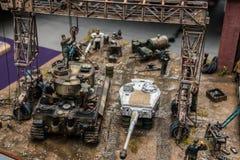 Plastic model tank Stock Photography