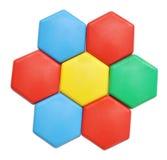 Plastic mosaic blocks Stock Image