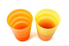 Plastic mugs Royalty Free Stock Photo