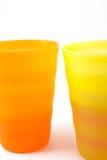 Plastic mugs Royalty Free Stock Images
