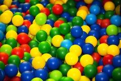 Plastic multi-colored balls. stock photography