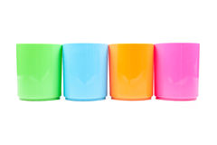 Plastic multi-colored glas royalty-vrije stock fotografie
