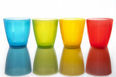 Plastic multi-colored glasses Royalty Free Stock Photos