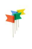 plastic multicolor stift för flagga Arkivfoton