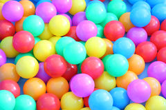 Plastic multiple color balls Royalty Free Stock Photography