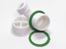 Plastic net voor afvoerkanaal voor gat van de gootsteen Een fragment van D royalty-vrije stock fotografie