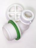 Plastic net voor afvoerkanaal voor gat van de gootsteen Een fragment van D stock foto's