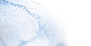 Plastic netting background. Closeup of plastic fishnet on white background. Blue tone. Copy space Royalty Free Stock Photography