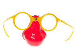 Plastic nose and spectacles Stock Photography