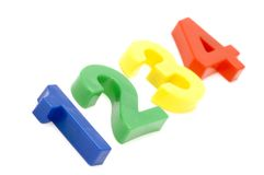 Plastic number Stock Photography