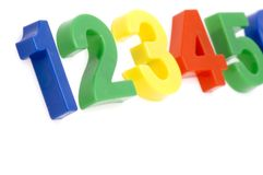 Plastic number close up Royalty Free Stock Image