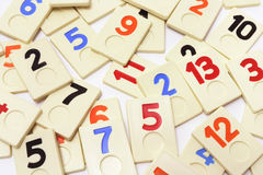 Plastic Number Pieces Royalty Free Stock Photos